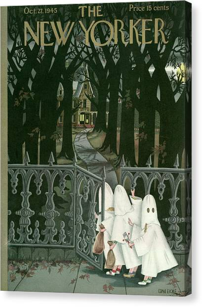 New Yorker October 27th, 1945 Canvas Print