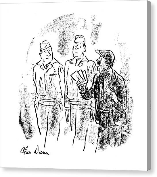 Exchange Rate Canvas Print - New Yorker October 28th, 1944 by Alan Dunn