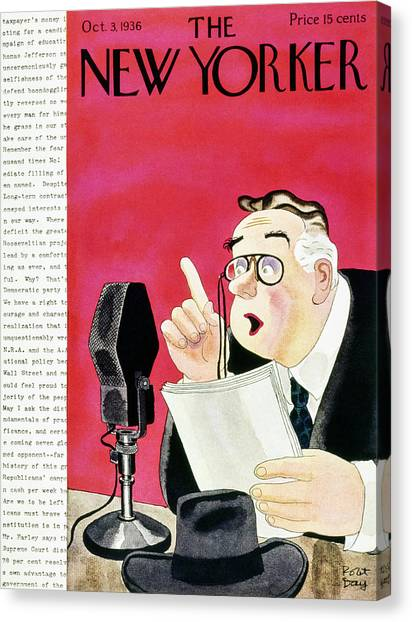 New Yorker October 3 1936 Canvas Print by Robert Day