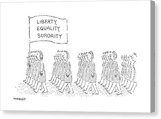 Sorority Canvas Print - New Yorker October 30th, 1978 by Robert Mankoff
