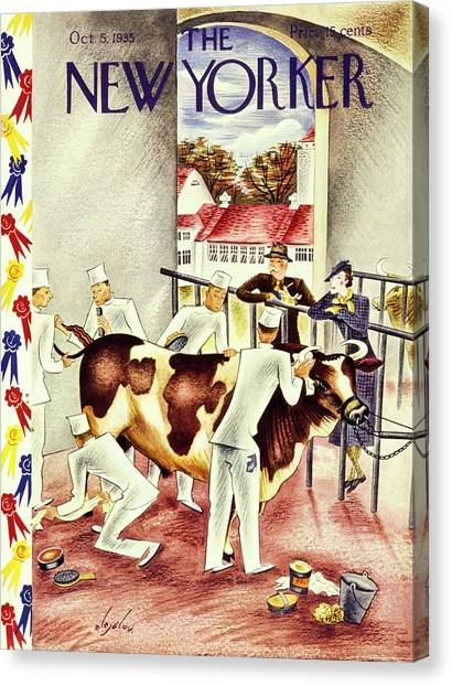 New Yorker October 5 1935 Canvas Print