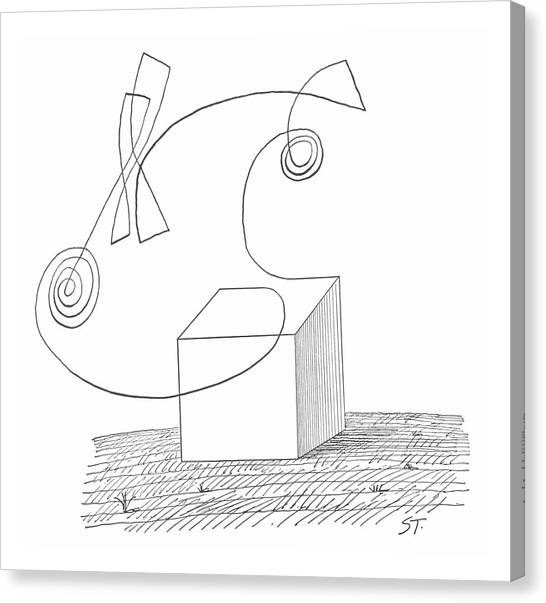 Sculptors Canvas Print - New Yorker October 5th, 1963 by Saul Steinberg