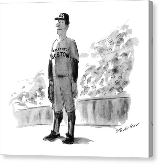 Baseball Players Canvas Print - New Yorker October 5th, 1981 by James Stevenson