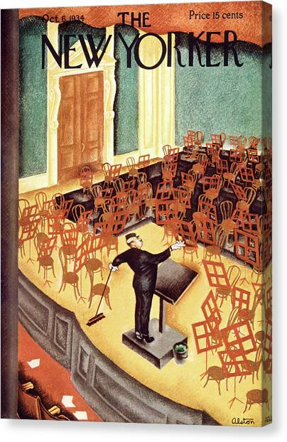New Yorker October 6th, 1934 Canvas Print by Charles Alston