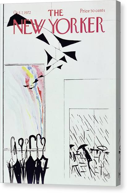 New Yorker October 7th 1972 Canvas Print by Arthur Getz