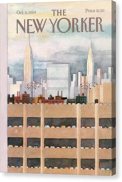New Yorker October 8th, 1984 Canvas Print