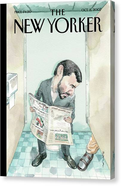 Iranian Canvas Print - New Yorker October 8th, 2007 by Barry Blitt