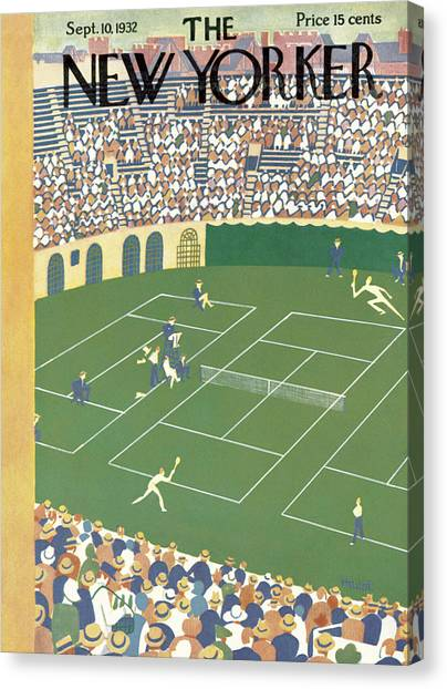 Tennis Canvas Print - New Yorker September 10th, 1932 by Theodore G. Haupt