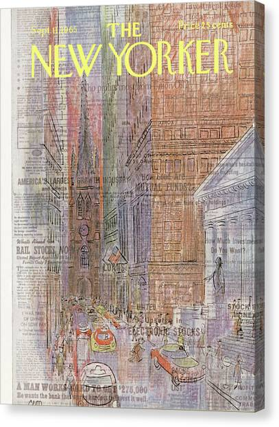 New Yorker September 11th, 1965 Canvas Print