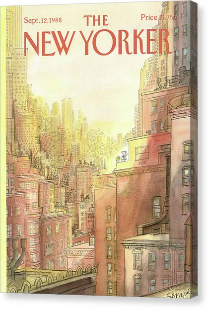 New Yorker September 12th, 1988 Canvas Print