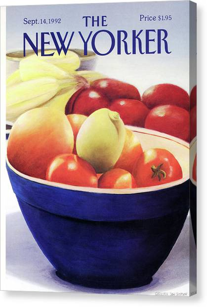 New Yorker September 14th, 1992 Canvas Print by Gretchen Dow Simpson
