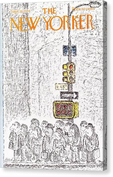 Street Signs Canvas Print - New Yorker September 16th, 1974 by Edward Koren