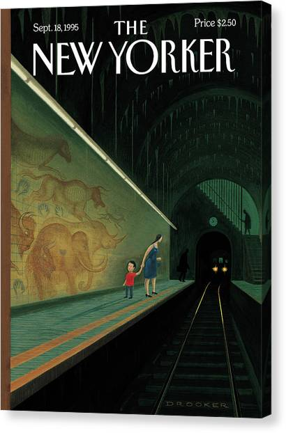 New Yorker September 18th, 1995 Canvas Print by Eric Drooker