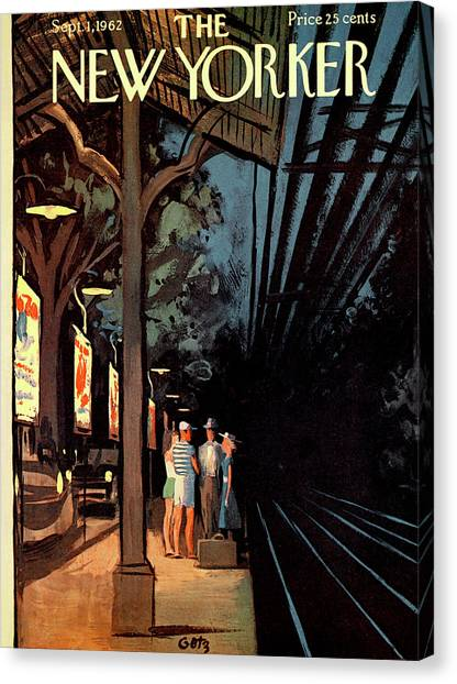 Expressing Canvas Print - New Yorker September 1st, 1962 by Arthur Getz