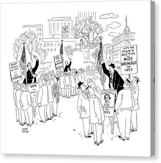 Speakers Canvas Print - New Yorker September 20th, 1952 by Robert J. Day