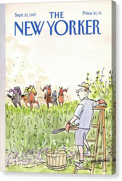 Polo Canvas Print - New Yorker September 21st, 1987 by James Stevenson
