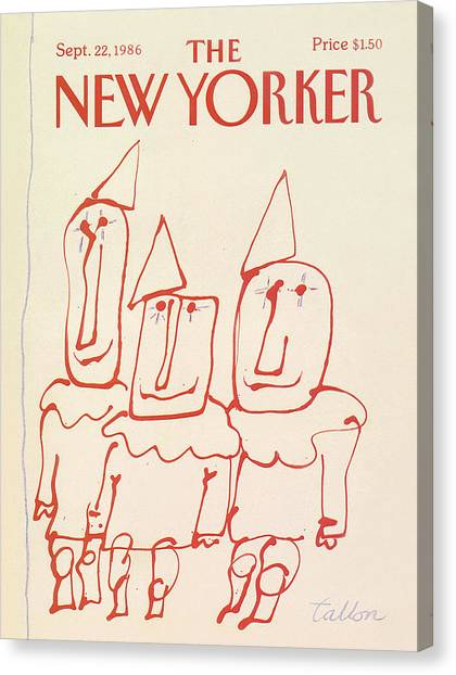 Triangle Canvas Print - New Yorker September 22nd, 1986 by Robert Tallon