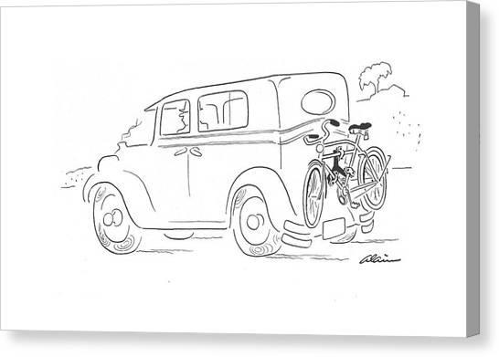 Bicycle Canvas Print - New Yorker September 26th, 1942 by  Alain