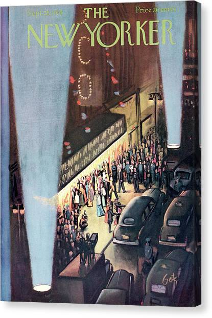 New Yorker September 26th, 1953 Canvas Print