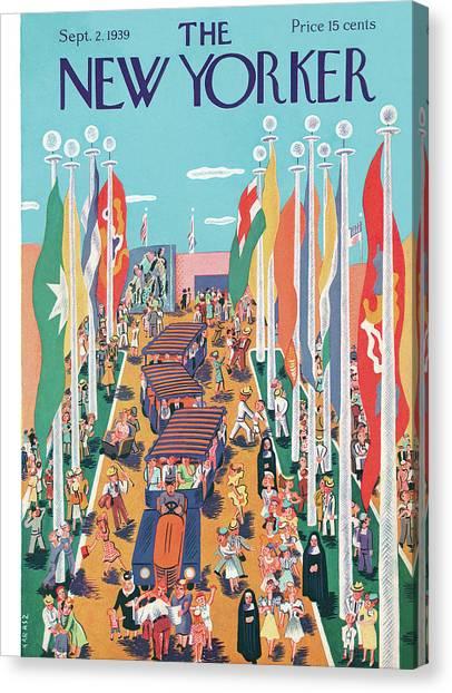 Nuns Canvas Print - New Yorker September 2nd, 1939 by Ilonka Karasz