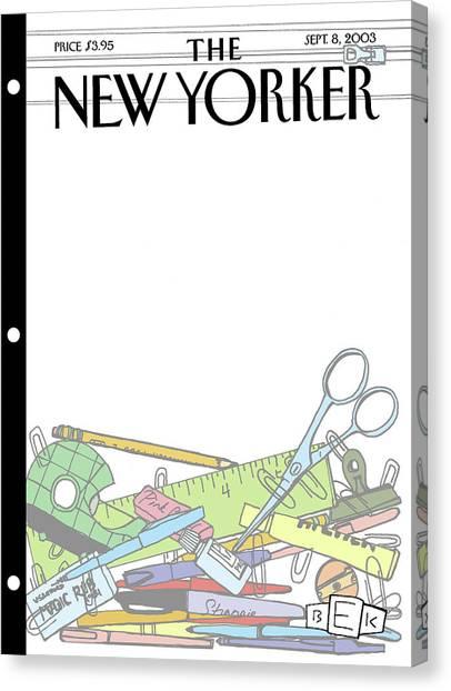 Elementary School Canvas Print - New Yorker September 8th, 2003 by Bruce Eric Kaplan