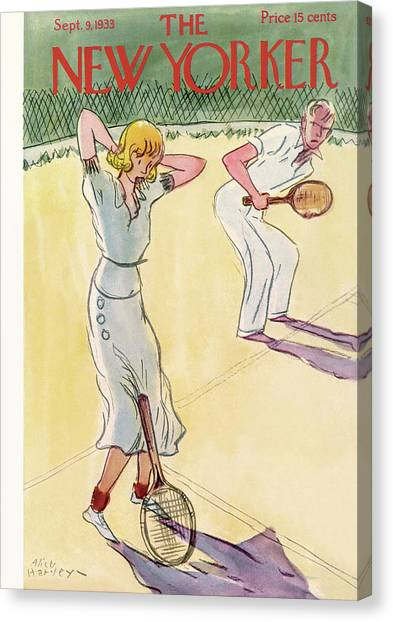 Tennis Players Canvas Print - New Yorker September 9th, 1933 by Alice Harvey