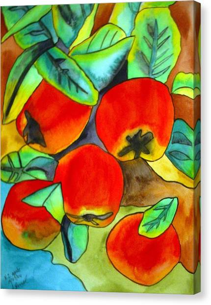 New Zealand Apples Canvas Print by Sacha Grossel