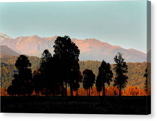 Fox Glacier Canvas Print - New Zealand Silhouette by Amanda Stadther