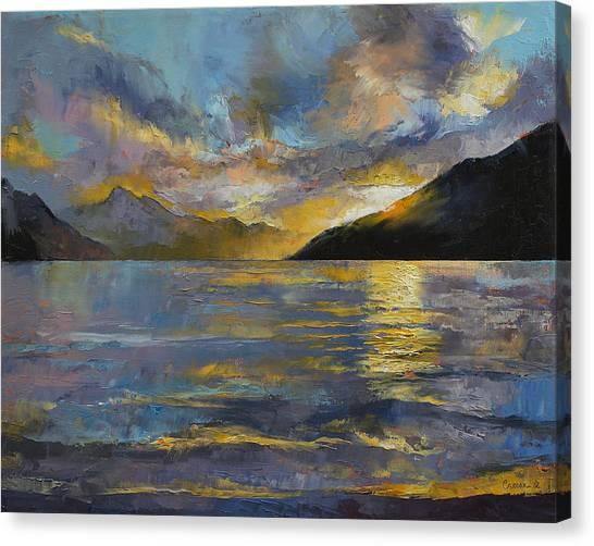 Abstract Seascape Canvas Print - New Zealand Sunset by Michael Creese