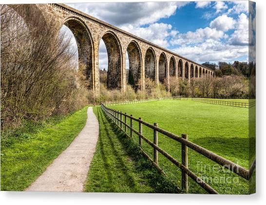 Path Canvas Print - Newbridge Viaduct by Adrian Evans
