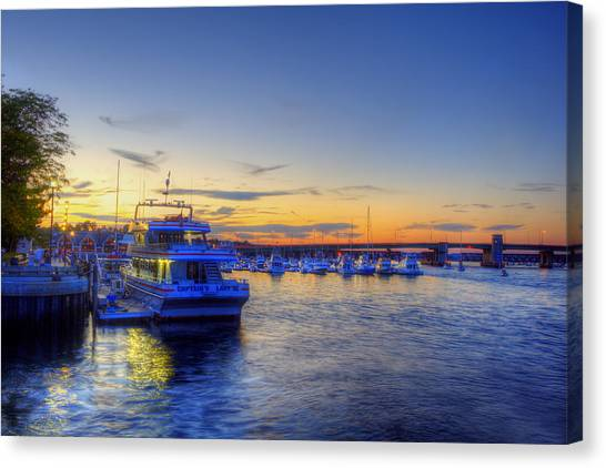 Newburyport Harbor Marina Canvas Print