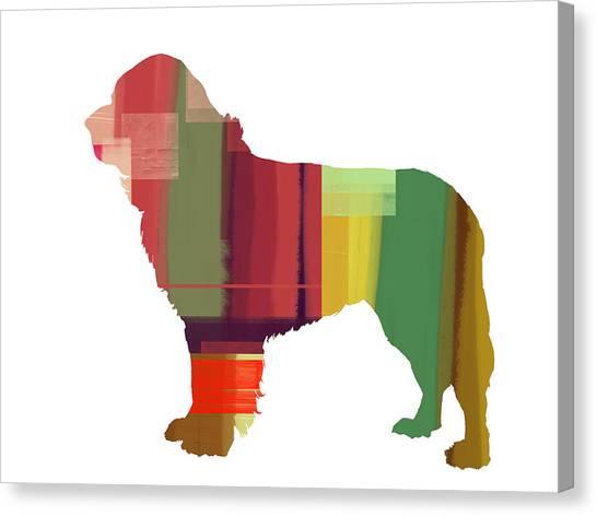 Puppies Canvas Print - Newfoundland by Naxart Studio