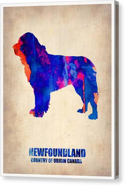 Puppies Canvas Print - Newfoundland Poster by Naxart Studio