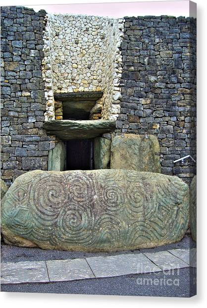 Newgrange Entrance Canvas Print