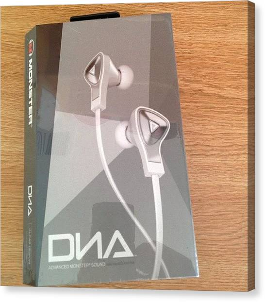 Headphones Canvas Print - #newheadphones #ohbaby #monster #dna by Anthony Wang
