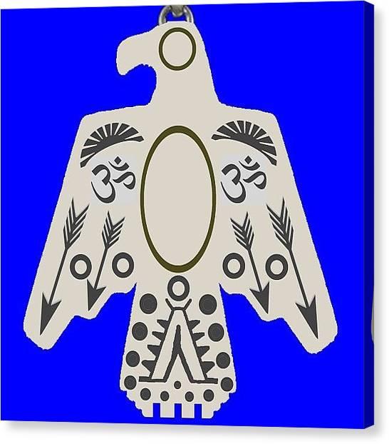 Om Canvas Print - Newly Designed Om Thunderbird Pendant by Shikoba Photography
