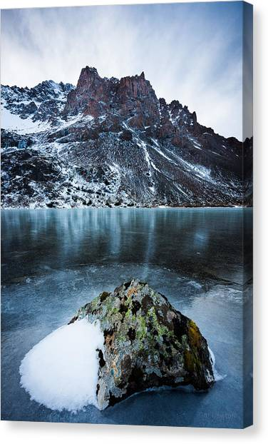 Frozen Mountain Lake Canvas Print