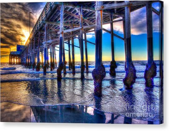 Newport Beach Pier - Low Tide Canvas Print