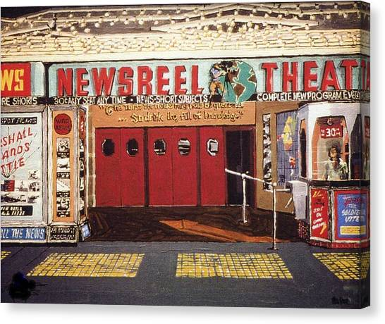 Newsreel Theatre Canvas Print by Paul Guyer