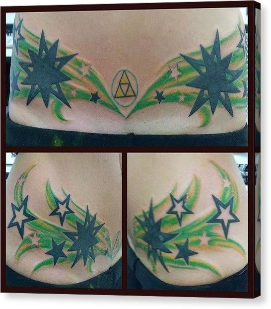 Geometric Canvas Print - #newtattoo #yay #triforce #ouch #stars by Mandy Shupp