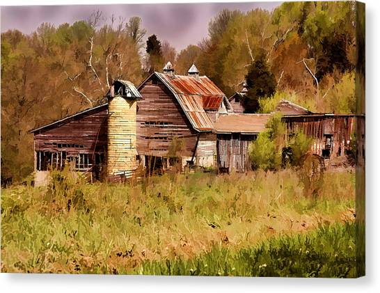 Newton Township Barn Canvas Print