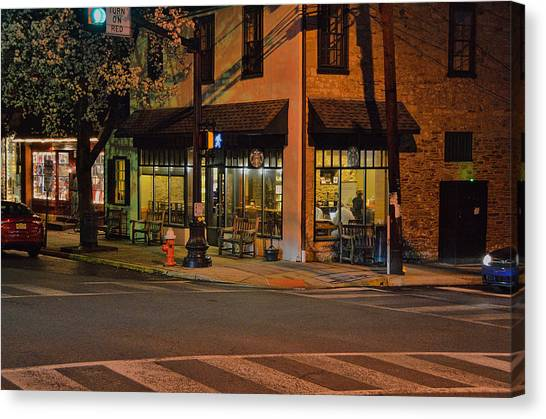 Newtown Nighthawks Canvas Print