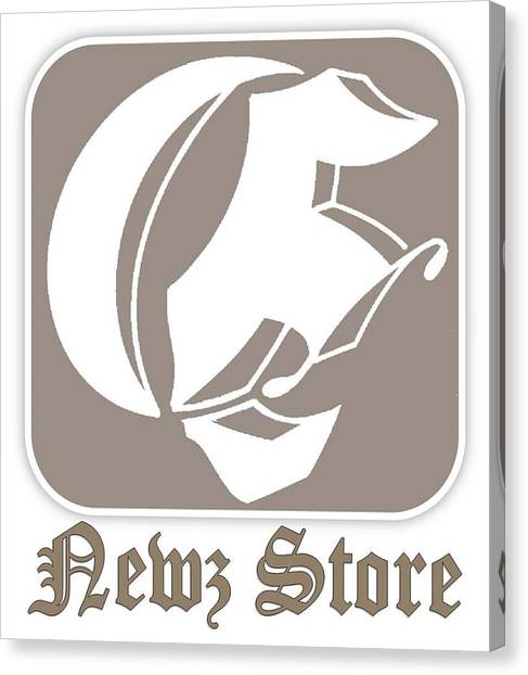 Eclipse Newspaper Store Logo Canvas Print