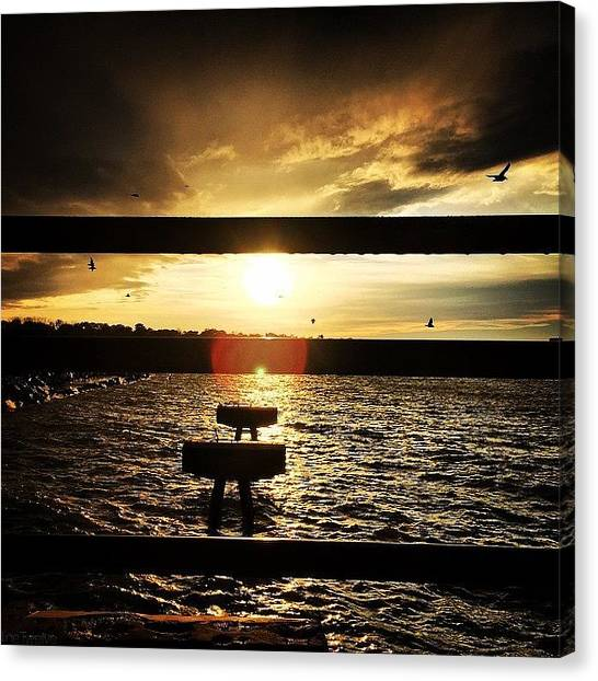 Lake Sunsets Canvas Print - Next Level by Dave Thewlis