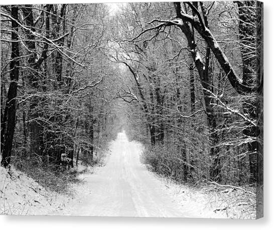 Next Stop In Winter Canvas Print