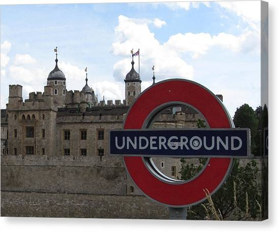 Tower Of London Canvas Print - Next Stop Tower Of London by Jenny Armitage