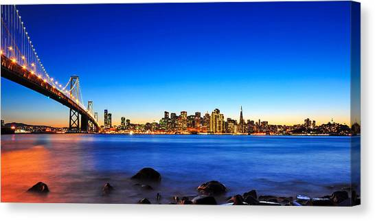 Next To The Bay Bridge And San Francisco Skyline Canvas Print