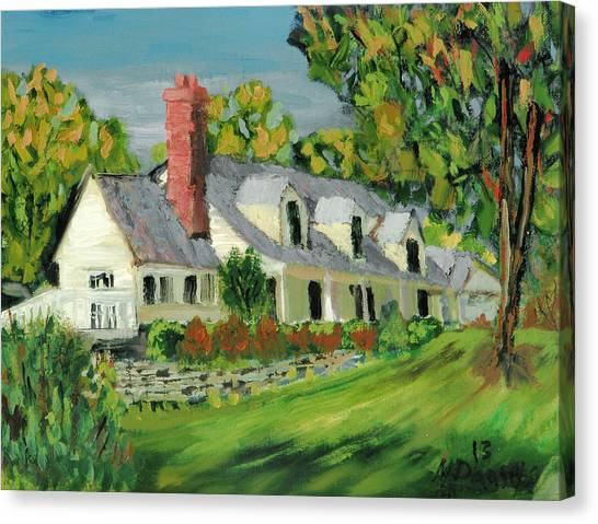 Next To The Wooden Duck Inn Canvas Print