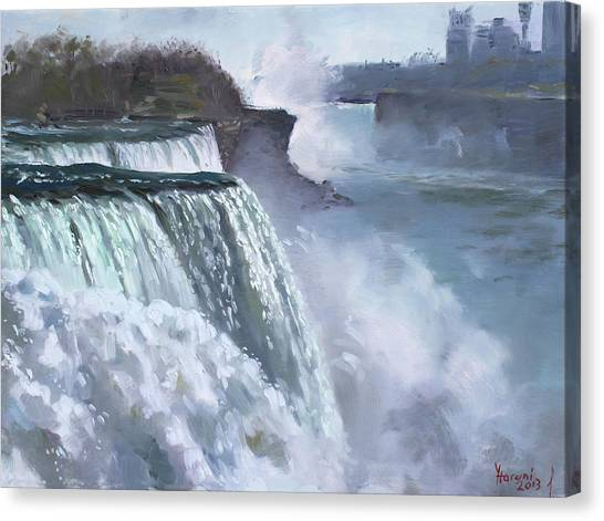 Waterfalls Canvas Print - Niagara American Falls by Ylli Haruni