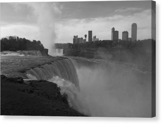 Niagara Falls - Autumn - B N W Canvas Print